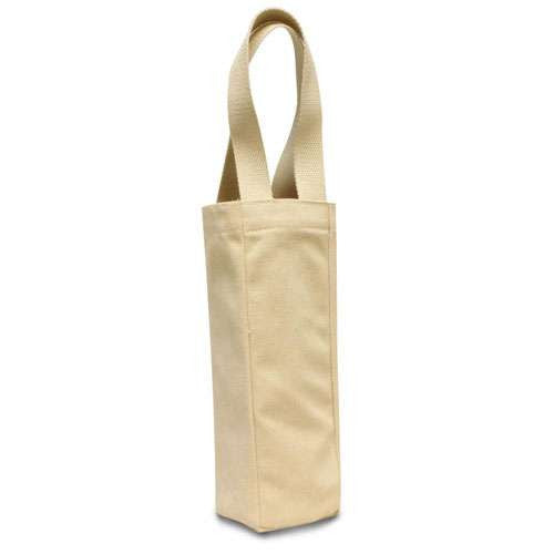 Exclusive Single Wine Canvas Tote Bag