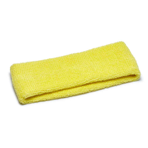 yellow terry headband