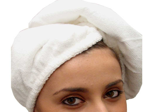 White hair wrap towel microfiber cloth
