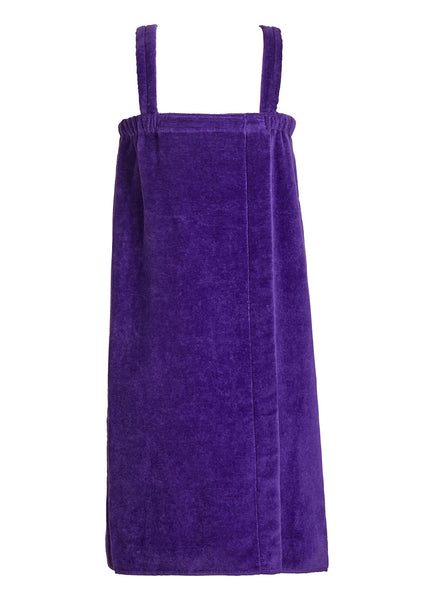 girls terry velour bathwrap towel in purple