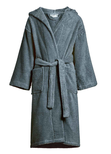charcoal kids terry robe