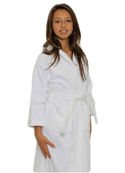 Kids Velour Hooded Bathrobe