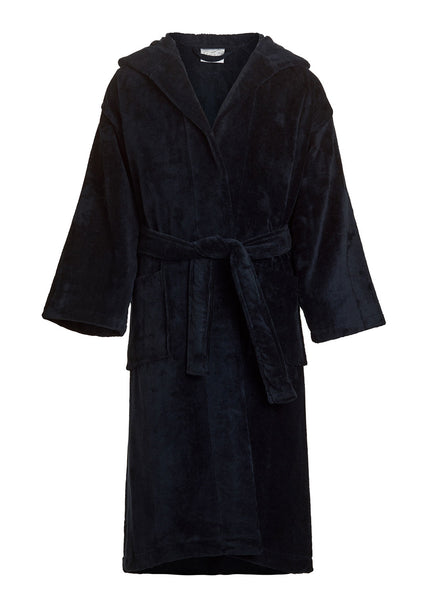 boys hooded bathrobes black