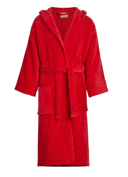 red kids hooded bathrobe