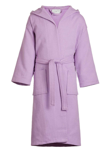 spa robes with hoods lilac