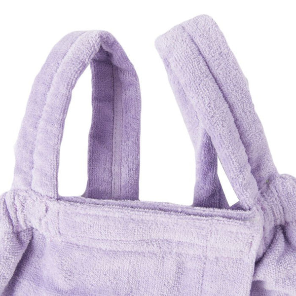 Kids Terry Velour Shower Wrap With Shoulder Straps