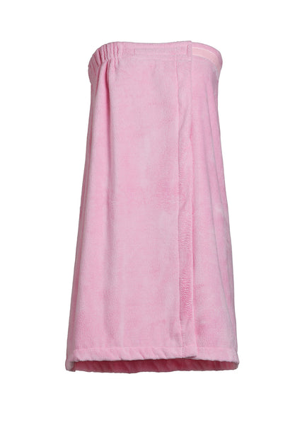 womens shower wrap pink