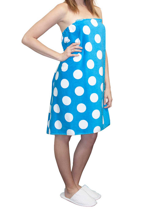 Polka Dot Body Wrap Towel for Women