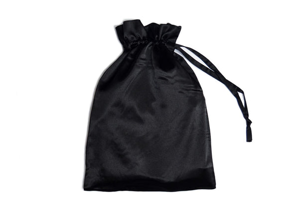 black satin gift bag
