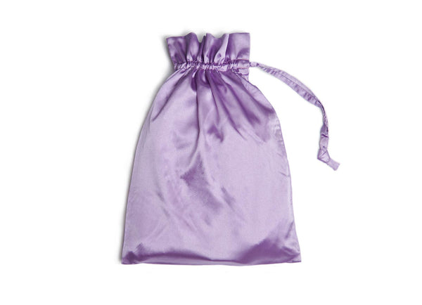 lavender satin gift bag
