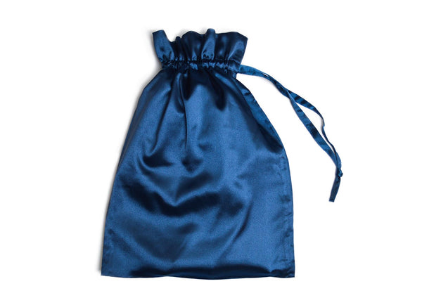 navy blue pouch gift bag