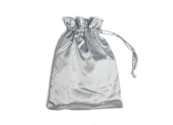 gift bags satin in grey
