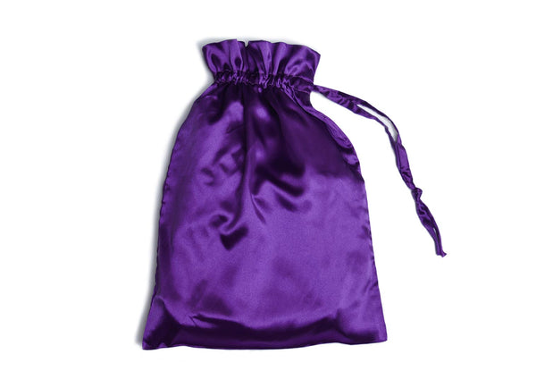 gift bag for bridesmaid robes in purple