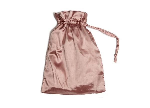 blush wedding robe gift bag
