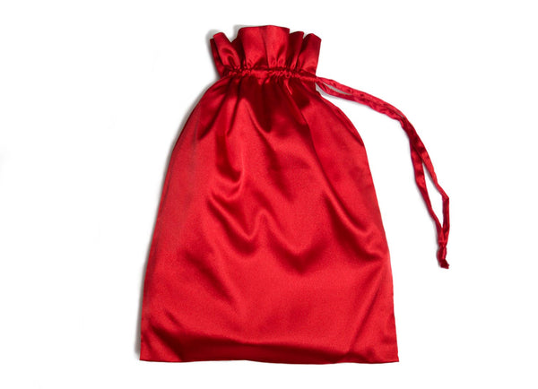 Red Satin robe bag for women