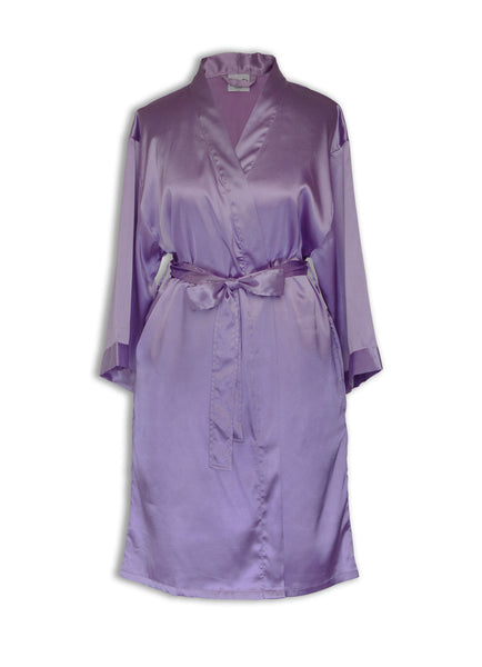 thin robe for women lilac