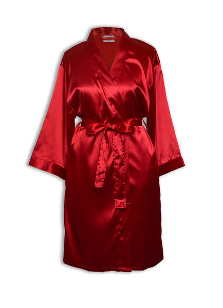 satin robes wholesale red wine