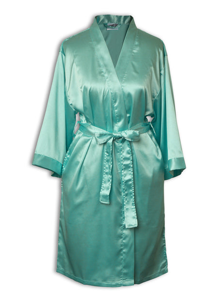 Satin Robes - Front Pocket