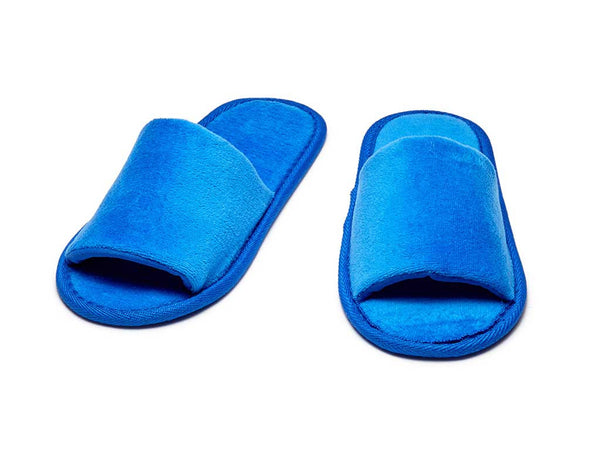 royal blue kids open toe slippers