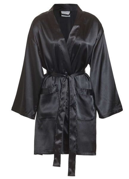 black stain short robe