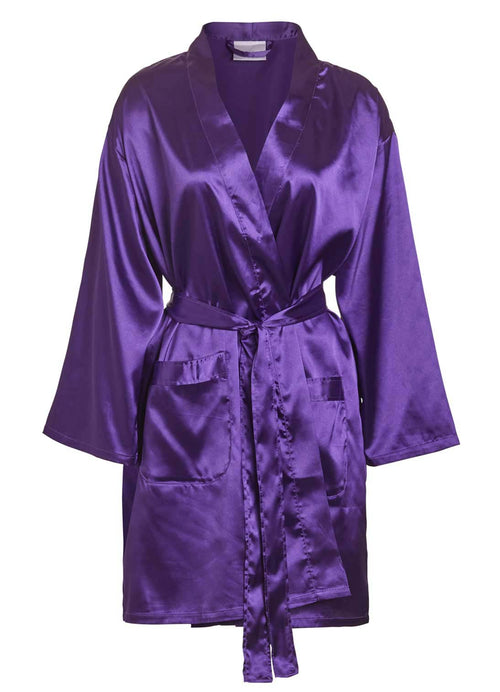 satin robes wholesale purple