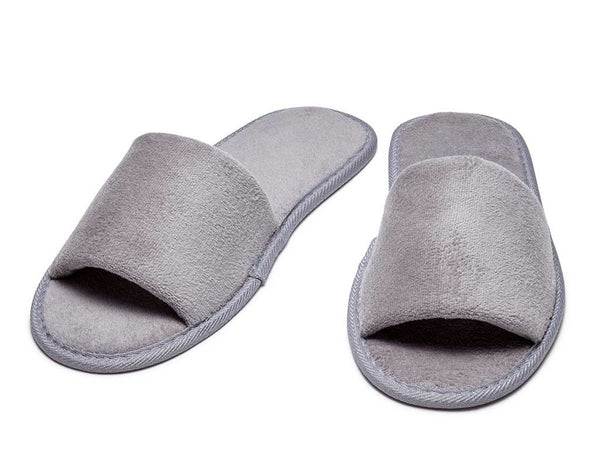 cool grey velour mens womens slippers