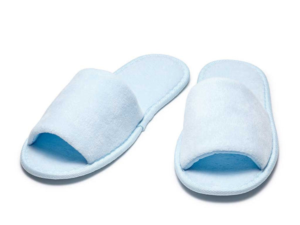 sky blue open toe mens womens slippers