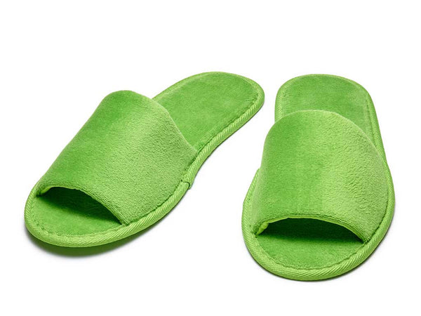 apple green mens womens velour slippers