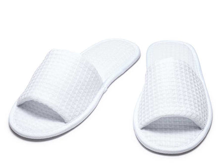 Waffle Slippers with Velcro Closure