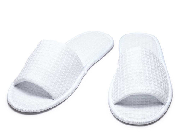 mens womens slippers open toe white