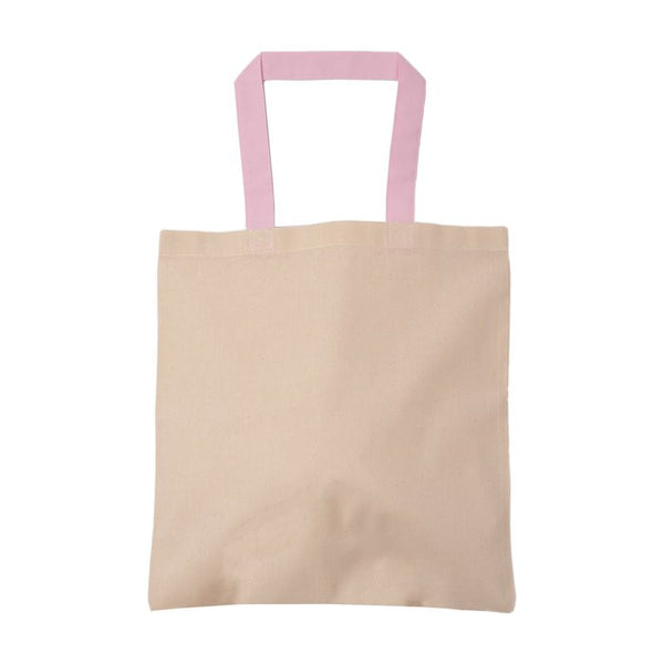 Cotton Tote Bag With Colored Handle