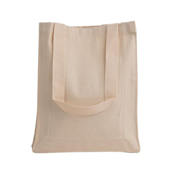Sturdy Canvas Book Bag Tote Bag W/Gusset