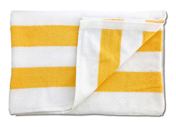 striped beach towel yellow