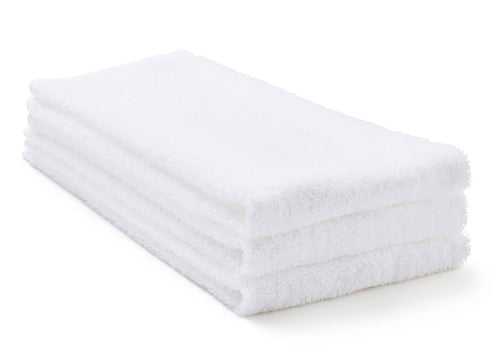 white terry Egyptian Cotton hand towels
