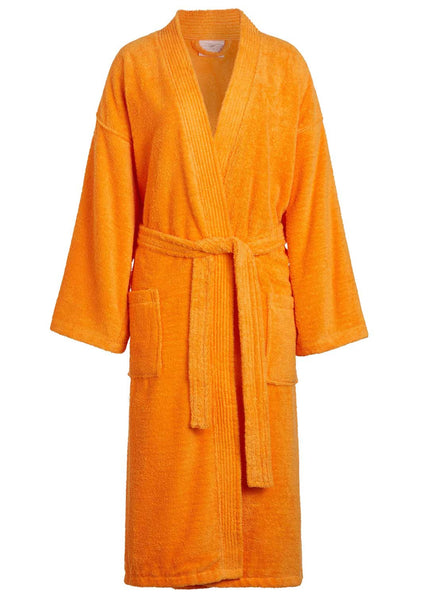 towel robe for men orange