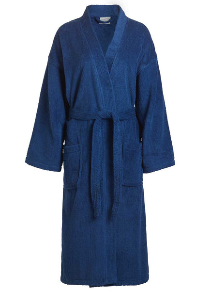 navy blue terry robes for men