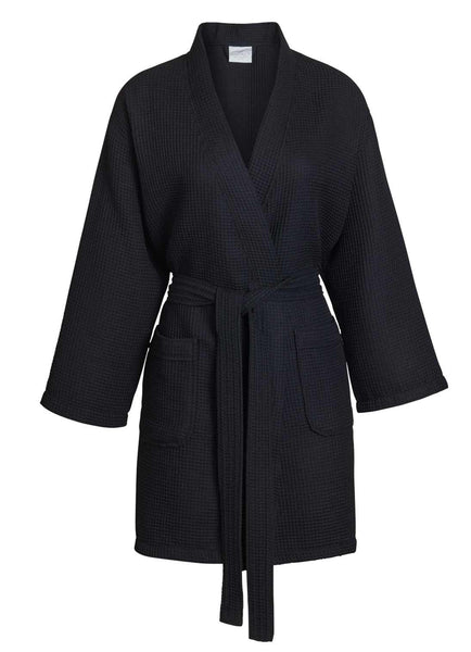 black bridesmaid robes