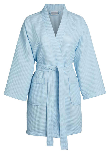 sky blue ladies cotton robe