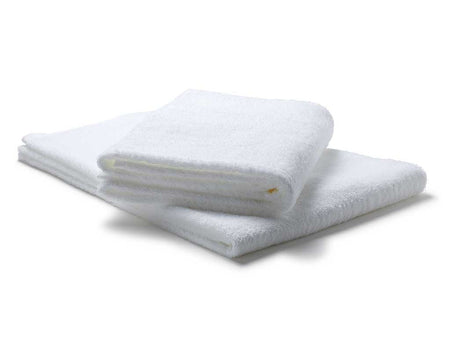 "Dozen Bath Sheet Towel Set White - 35"" x 70"""