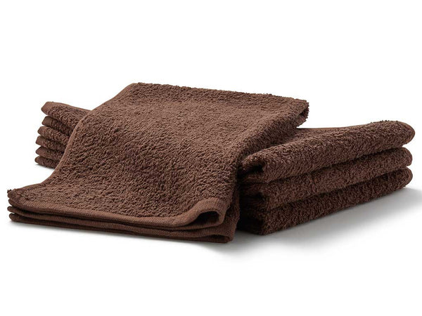 brown terry salon towels