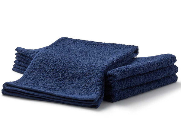 navy blue terry salon towels