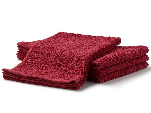 burgundy terry salon towels