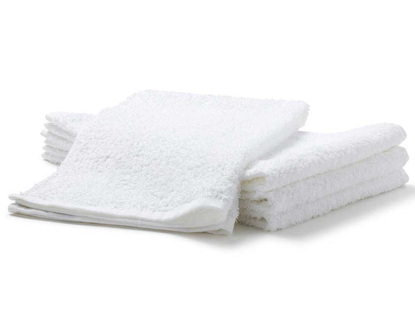 white terry salon towels