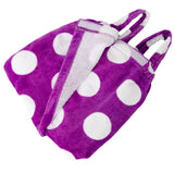 Terry Velour Polka Dot Body Wrap Towel for Kid's