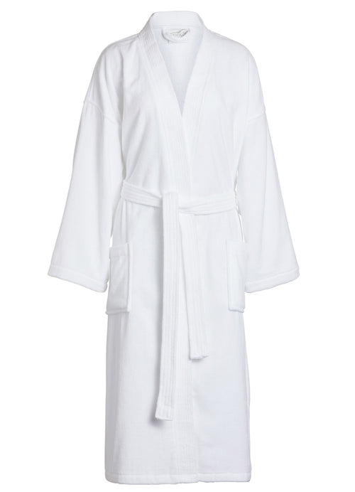 White Terry and Velour Kimono robe