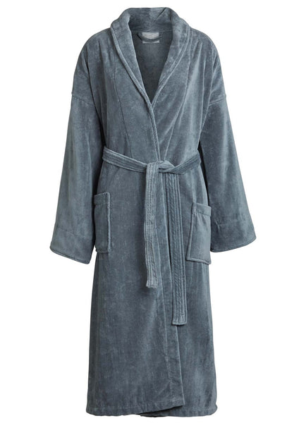 pink shawl collar velour robe ... ce0601dad