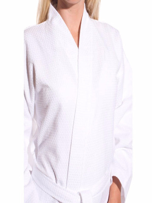 Wholesale Waffle Robes | White Spa Robe | Long Robes