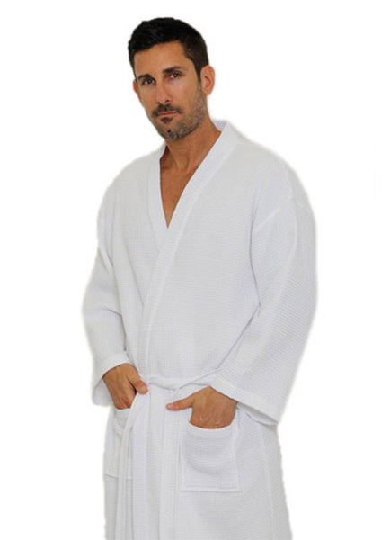 Men women waffle spa robes