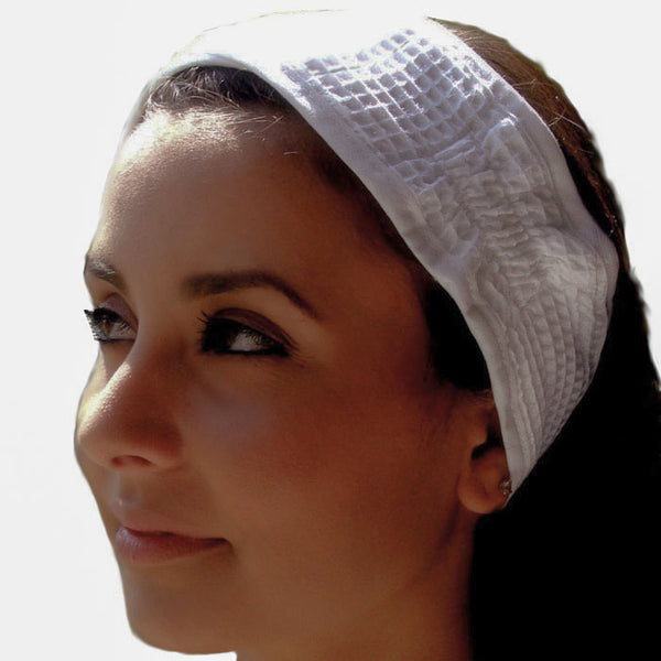 Waffle Spa Headband with Nylon Fabric Fastening