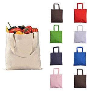 Promotional Zippered Canvas Tote Bag